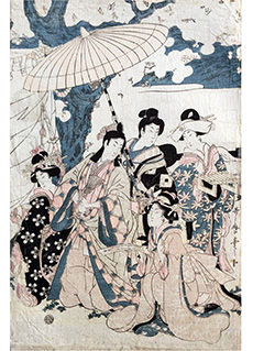 Reading a Message Outdoor by Kitagawa Utamaro