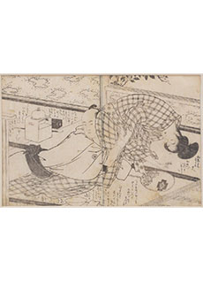 18th Century Shunga Woodblock Print by Utagawa Toyokuni I
