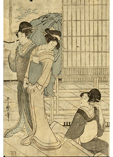 Women of the Pleasure Quarters by Kitagawa Utamaro
