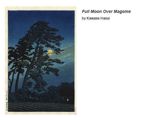 Full Moon Over Magome by Kawase Hasui