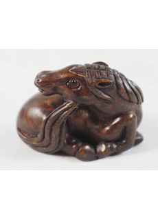19th Century Japanese Netsuke Horse