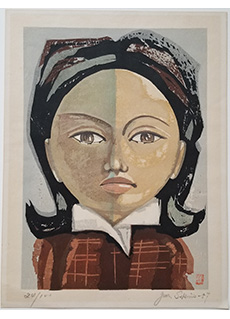 Face of a Young Girl by Junichiro Sekino