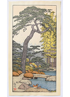Pine Tree of the Friendly Garden by Toshi Yoshida