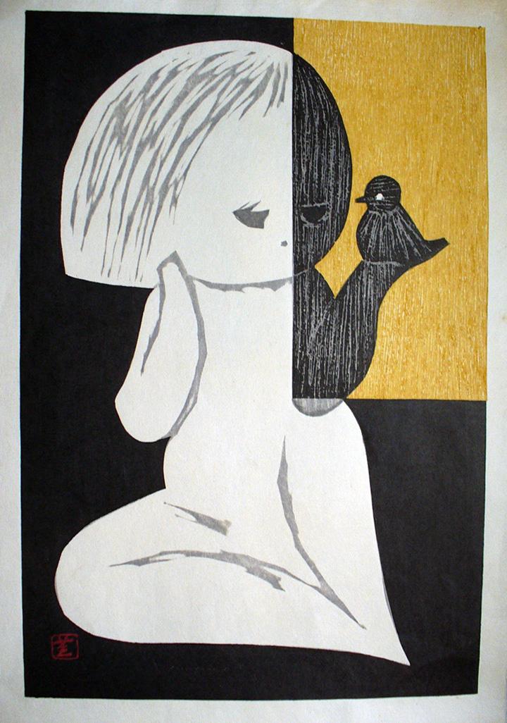 Girl and Bird by Kaoru Kawano