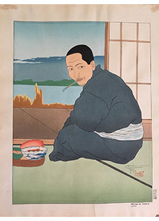 Pecheur de Sawara,Japon by Paul Jacoulet