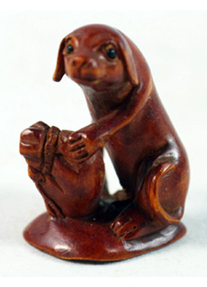 19th Century Japanese Netsuke Dog