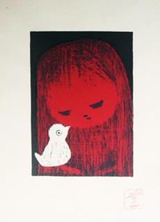 Child and Bird by Kaoru Kawano