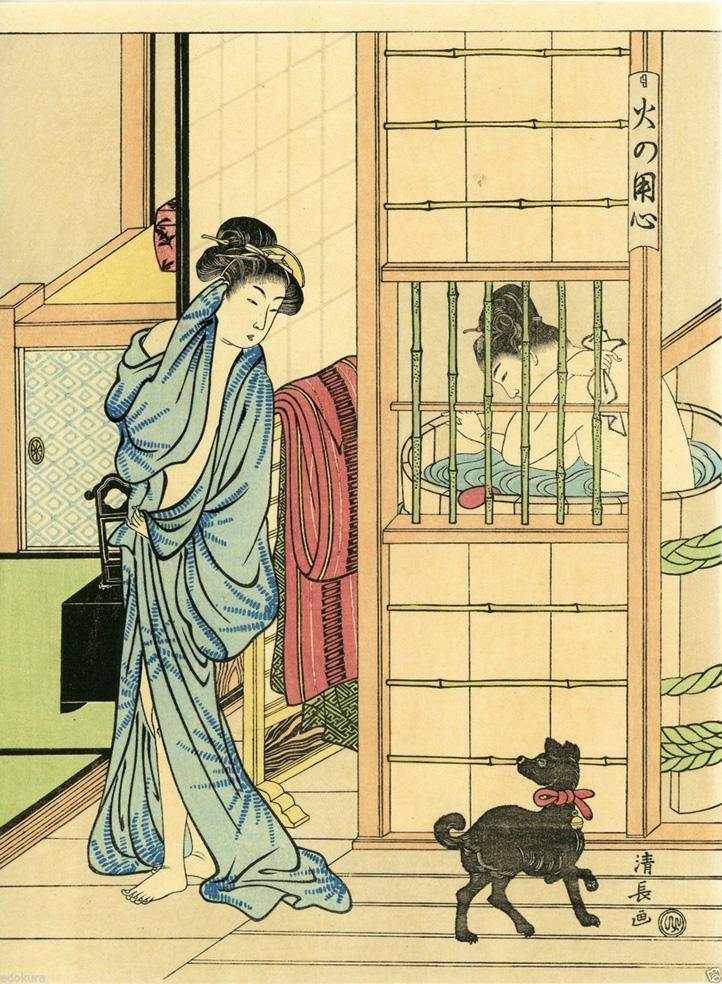 Bathing Room by Kiyonaga