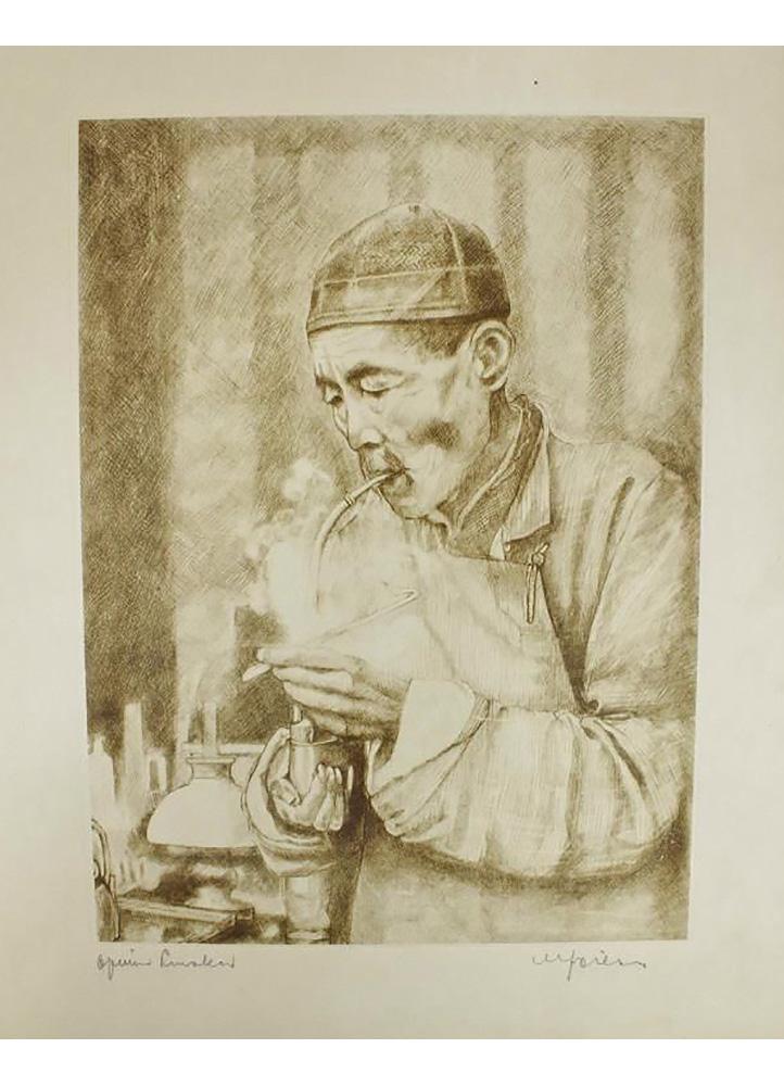 Opium Smoker by Willy Seiler