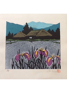 Landscape with Flowers A.P by Mitsuhiro Unno