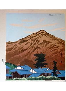 Mt. Hira, Rooftops by Tomikichiro Tokuriki