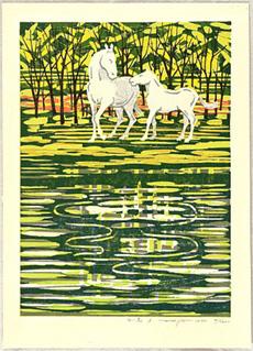 White Horses A by Fumio Fujita