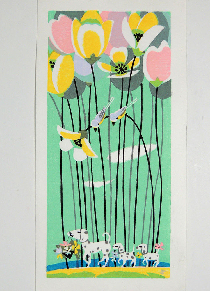 Tulips & Dalmations by Shuzo Ikeda