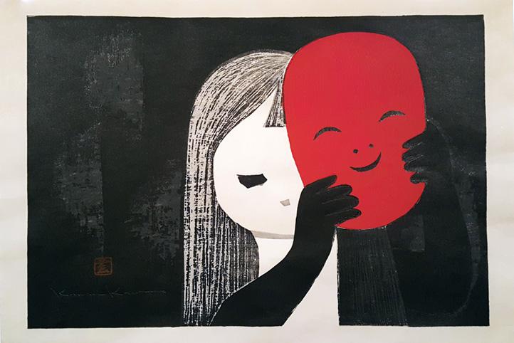 Girl With Mask by Kaoru Kawano