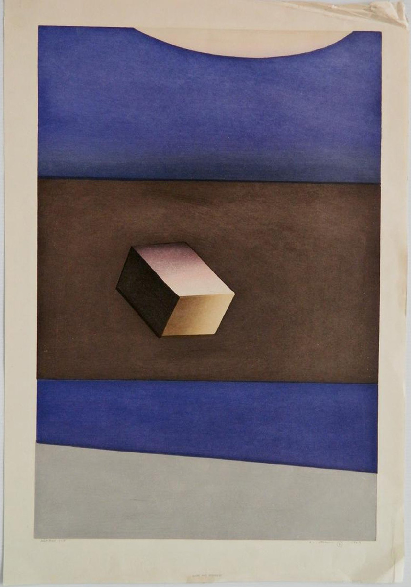 Cube and Distance by Ansei Uchima