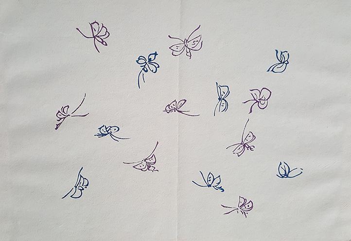 Butterflies by Kamisaka Sekka
