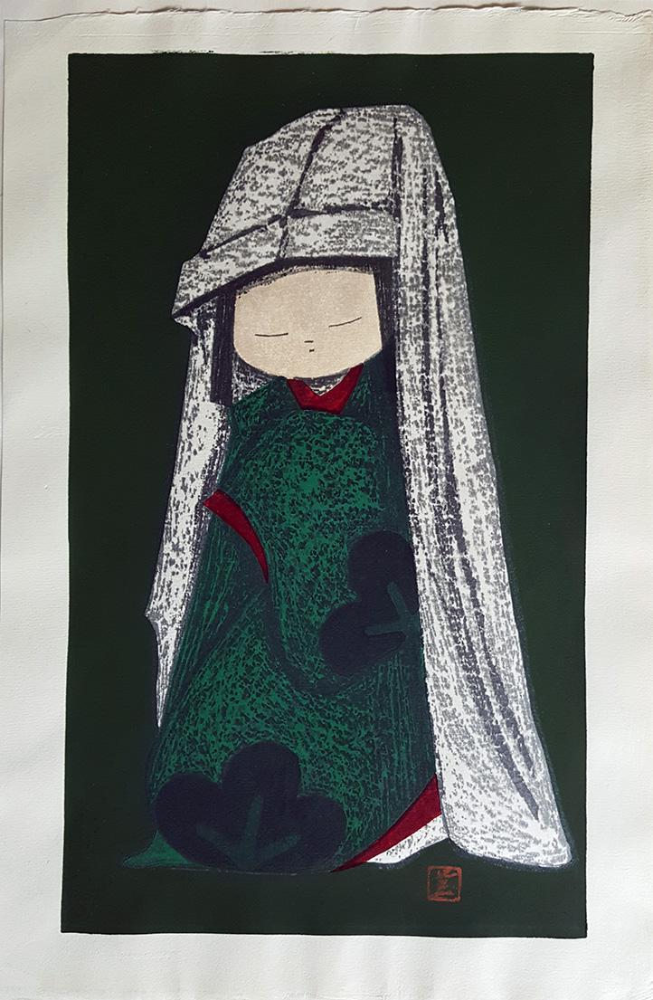 Dancing Figure (Snow Camelia) by Kaoru Kawano