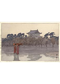 Edo Castle by Hiroshi Yoshida Jizuri Seal