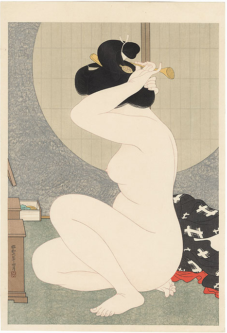 Arranging Hair by Hirano Hakuho
