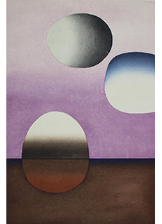 Three Sphere Space Violet Number Two by Ansei Uchima