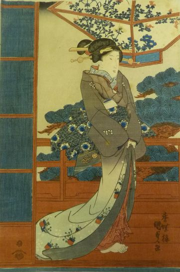 Beautiful Woman Woodblock Print by Utagawa Kunisada