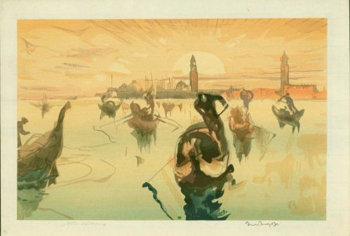 Venice Golden Morning by Yoshijiro Urushibara