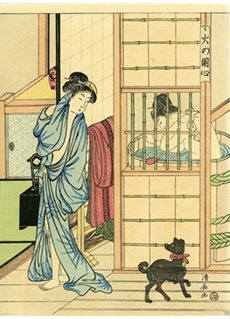 Bathing Room by Kiyonaga