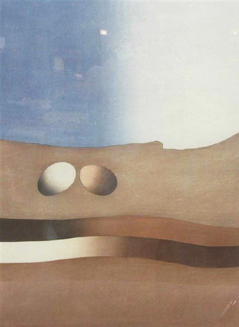 Two Spheres in Space B by Ansei Uchima
