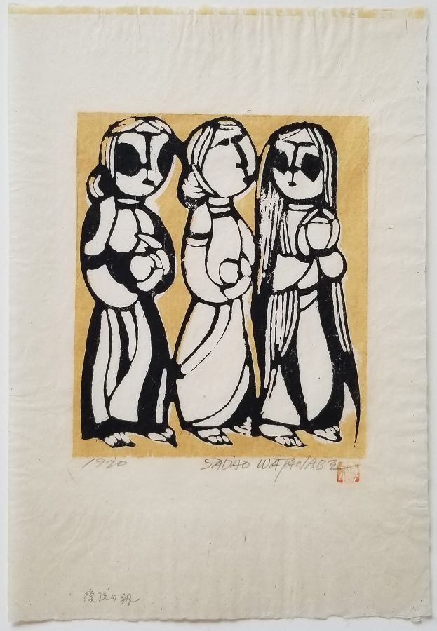 Three Marys at the Tomb by Sadao Watanabe